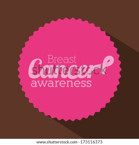 breast cancer over brown  background vector illustration - stock vector