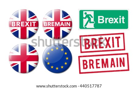 Bremain Brexit - stock vector
