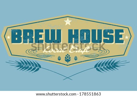 brew house - stock vector