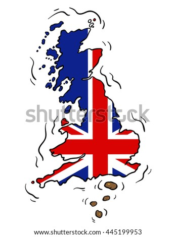 Brexit - The UK takes a dump on Europe - stock vector