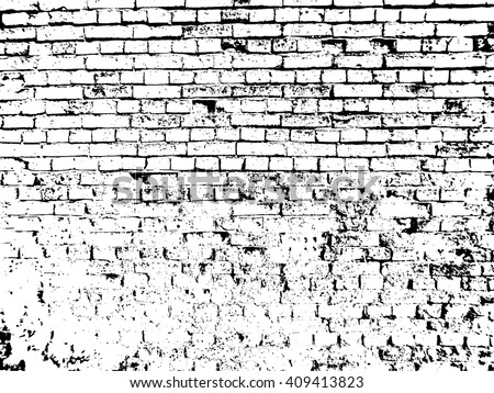 Brick Texture Background Effect Overlay Vector With Drawing
