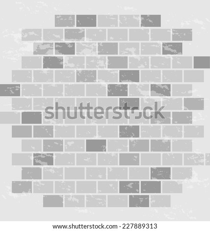 brick wall background - stock vector