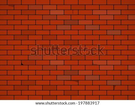 Brick wall background. Vector  - stock vector