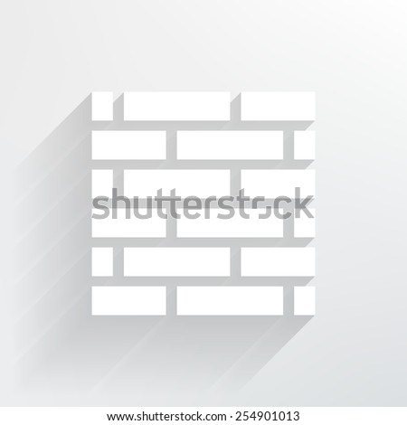 brick wall icon.vector illustration. - stock vector