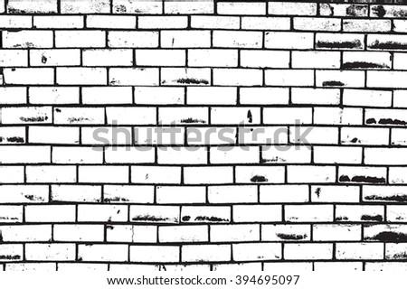 Brick Wall Overlay - stock vector