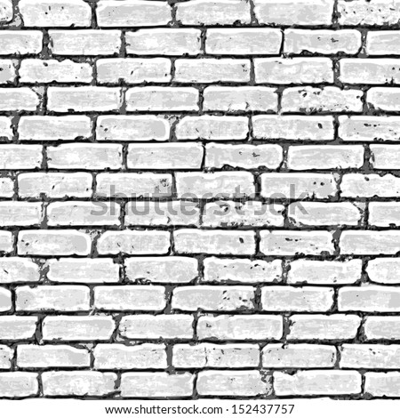 Brick wall seamless pattern. Vector illustration. - stock vector