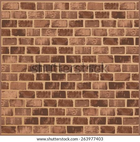 Brick wall texture - stock vector