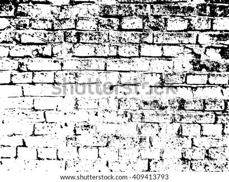 Brick Wall Texture Effect - stock vector