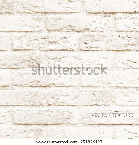 Brick Wall, Vector Illustration - stock vector