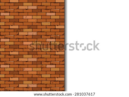 Brick wall vector pattern - stock vector