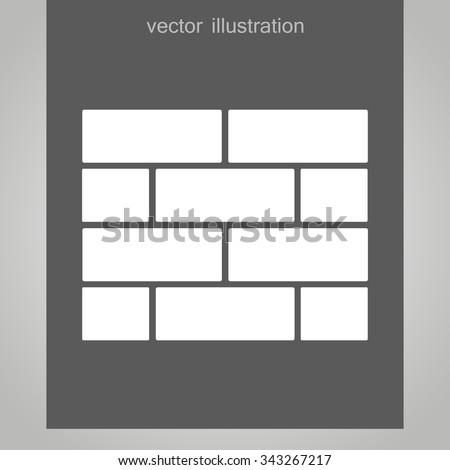 bricks fragment of the wall vector - stock vector