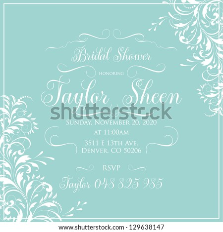 Bridal Shower - stock vector