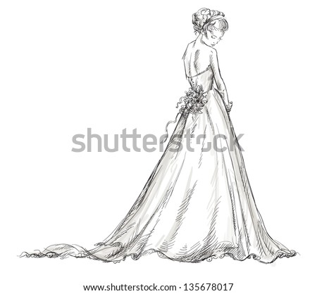 Dress Sketch Stock Photos Images amp Pictures Shutterstock