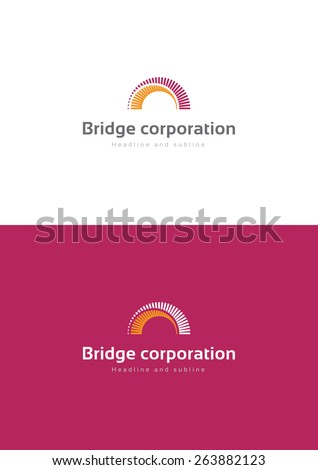 Bridge corporation logo teamplate. - stock vector