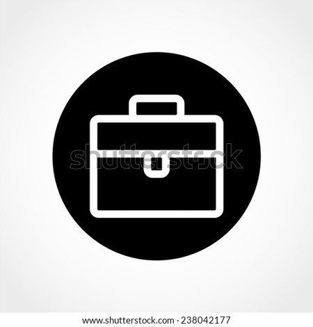 Briefcase Icon Isolated on White Background - stock vector