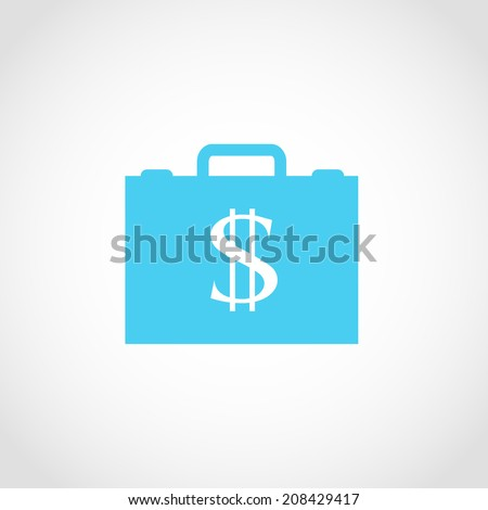 briefcase representing dollar money and business icon isolated on a white background. - stock vector
