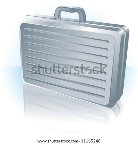 Briefcase. Vector. - stock vector