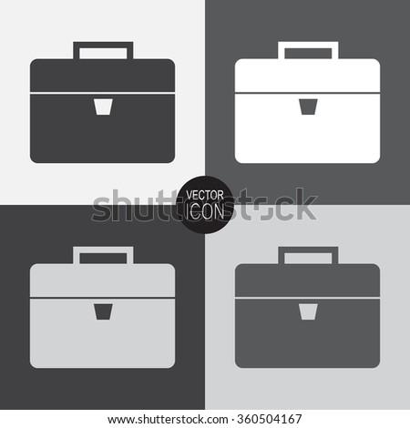 Briefcase vector icon. - stock vector