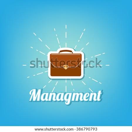 Briefcase vector illustration. Briefcase business. Managment.  - stock vector