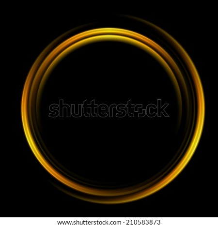 Bright abstract circle logo background. Vector design - stock vector