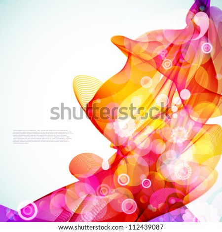 Bright abstract colorful background. - stock vector