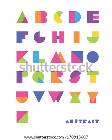 bright abstract font - stock vector