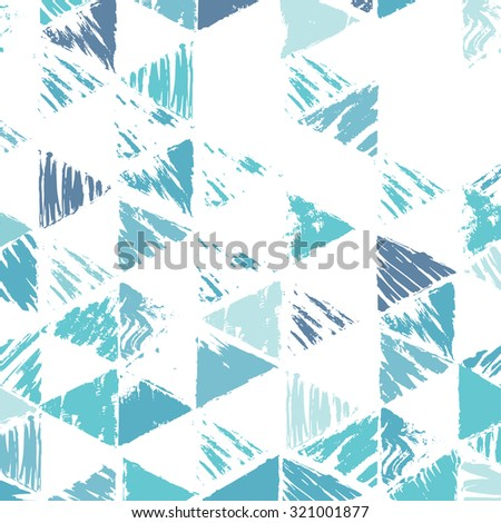 Bright abstract geometric background. Colorful mosaic of triangles. Geometric hipster retro background with place for your text. Grunge triangle background. - stock vector
