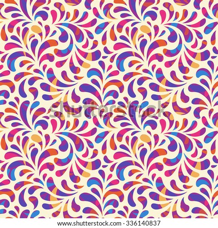 Bright abstract seamless  pattern - stock vector
