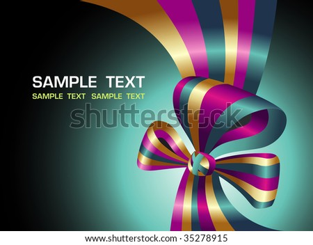 Bright background with a bow - stock vector