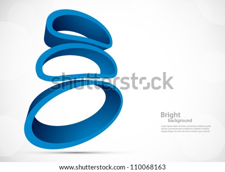 Bright background with abstract blue geometric elements - stock vector