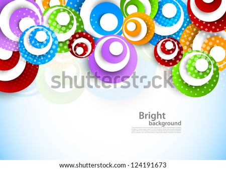 Bright background with circles - stock vector