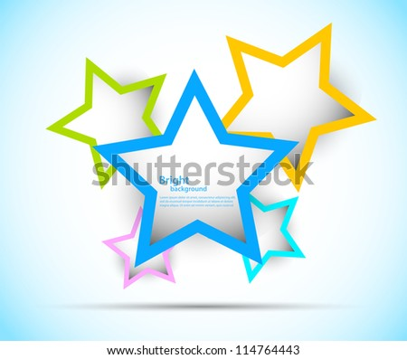 Bright background with colorful stars. Abstract illustration - stock vector