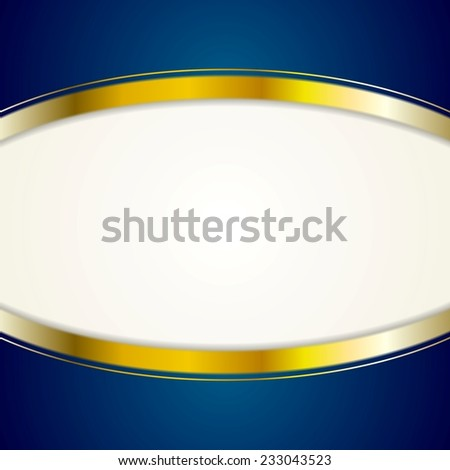 Bright background with golden stripes. Vector design - stock vector