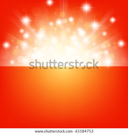 bright background with stars and lights - stock vector