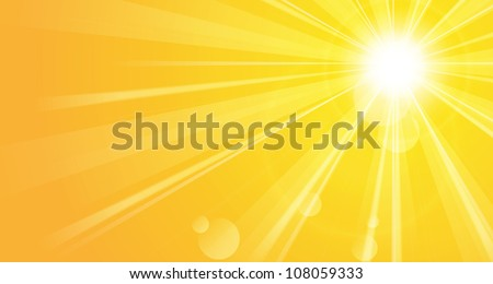 Bright background with sunshine - stock vector