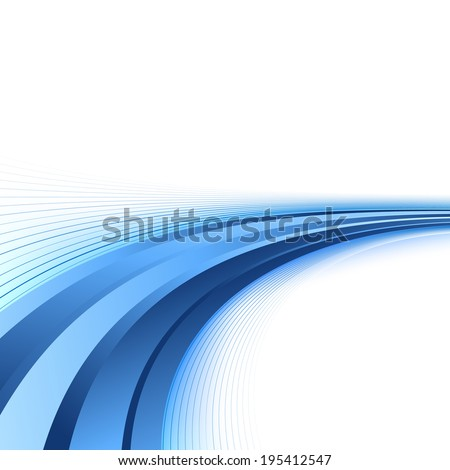 Bright blue lines certificate background. Vector illustration - stock vector