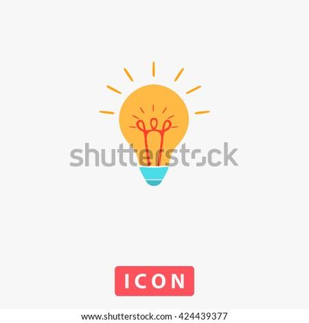 Bright Bulb Icon Vector. Bright Bulb Icon Logo. Bright Bulb Icon Picture. Bright Bulb Icon Image. Bright Bulb Icon UI. Bright Bulb Icon EPS. Bright Bulb Icon AI. Bright Bulb Icon Drawing - stock vector