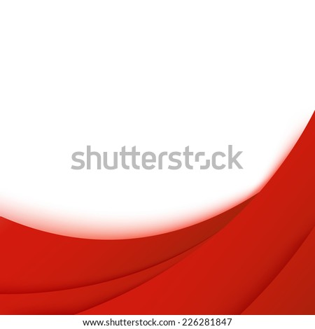 Bright business red layered background template. Vector illustration - stock vector