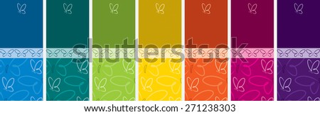 Bright Butterfly banner set in vector format. - stock vector