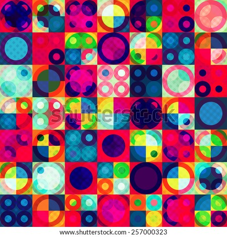 bright circle seamless pattern  - stock vector