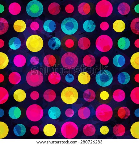 bright circle seamless pattern - stock vector