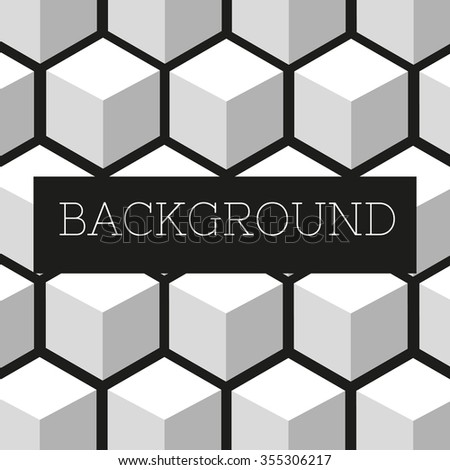 bright colorful background from cubes/hexagons.vector illustration eps10 color:white - stock vector