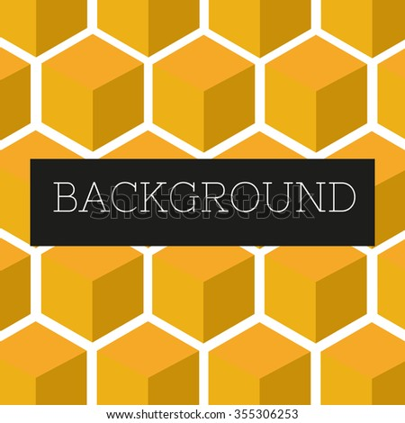 bright colorful background from cubes/hexagons.vector illustration eps10 color:yellow - stock vector