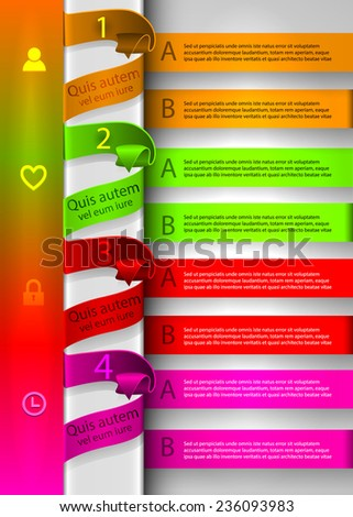 bright colorful template. Infographics - stock vector