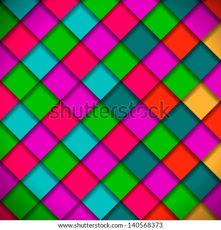 Bright colors mosaic pattern, vector illustration. - stock vector