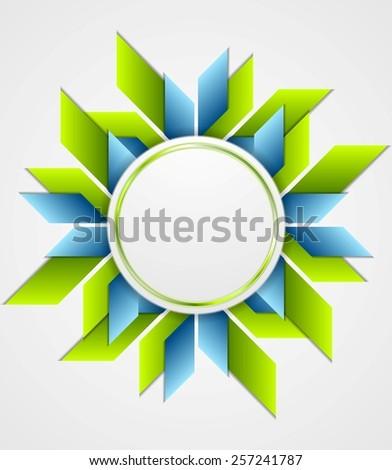 Bright corporate geometric logo with circle. Vector design - stock vector