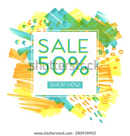Bright design for your sales, discounts and promotions. Modern style. It can be used for banners, flyers, outdoor printing price tags. - stock vector