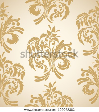 Bright floral seamless background in pastel shades - stock vector