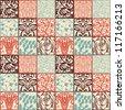 Bright floral seamless pattern - vector illustration - stock vector