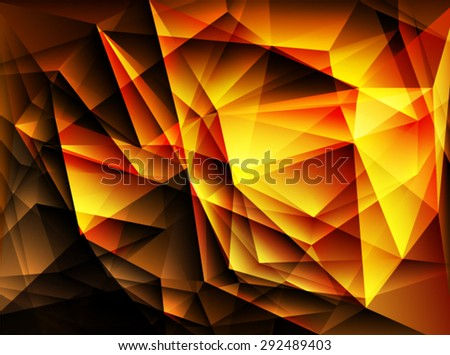 Bright gold polygon abstract background.Vector EPS 10 illustration. - stock vector